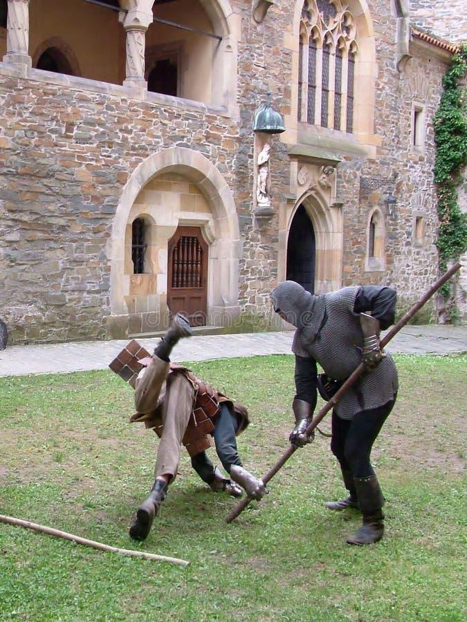 Middeleeuwse strijd stock fotografie