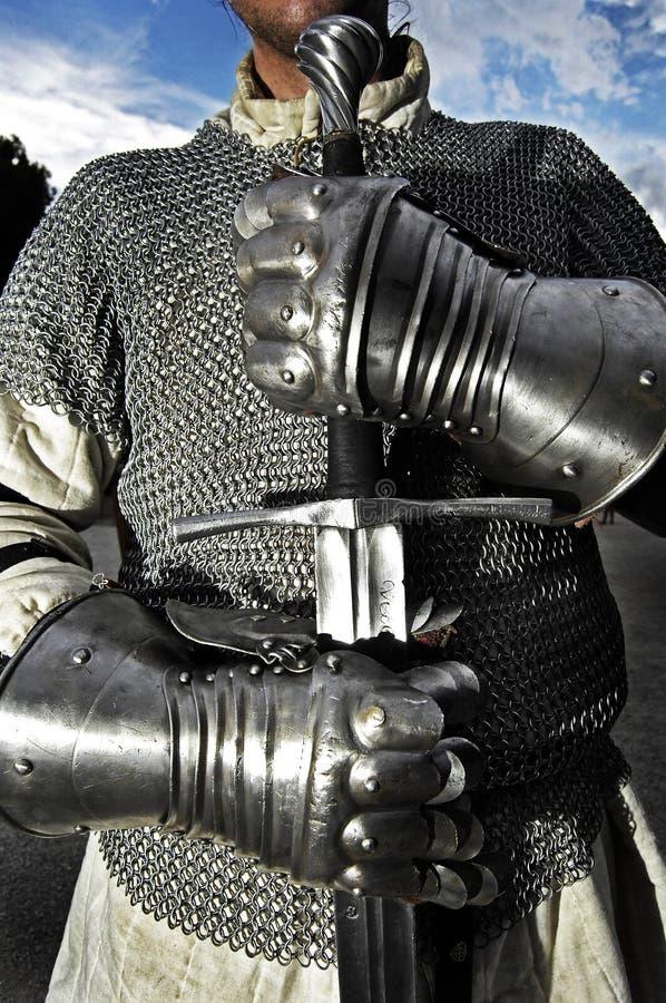 Middeleeuwse Strijder royalty-vrije stock afbeeldingen