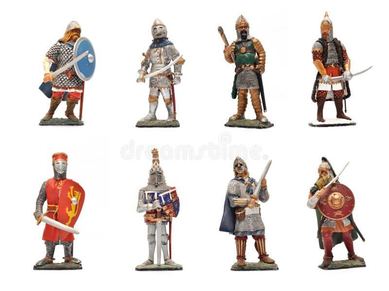 Middeleeuwse strijders stock foto