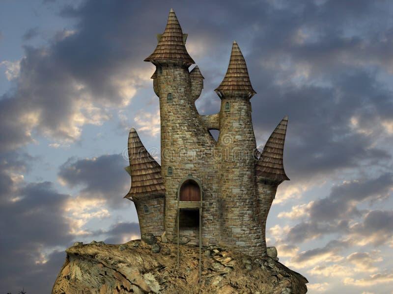 Middeleeuwse Toon Castle stock illustratie