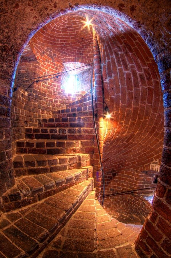 Middeleeuwse toren genoemd Karnan in Helsingborg, Zweed stock afbeelding