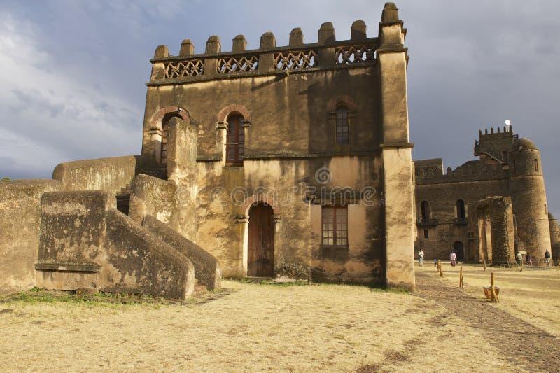 Middeleeuwse vesting in Gondar, Ethiopië, Unesco-de plaats van de Werelderfenis stock foto's