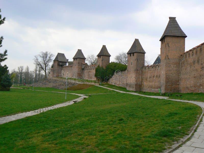 Middeleeuwse vesting in Nymburk, Tsjechische republiek stock foto's