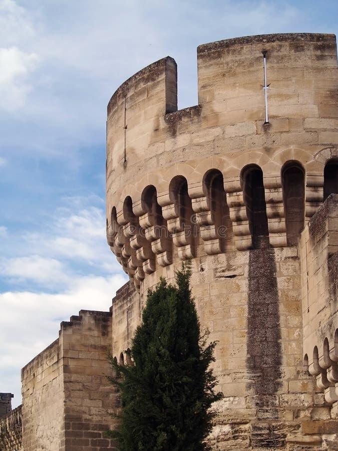 Middeleeuwse vesting van Avignon, Frankrijk stock afbeelding