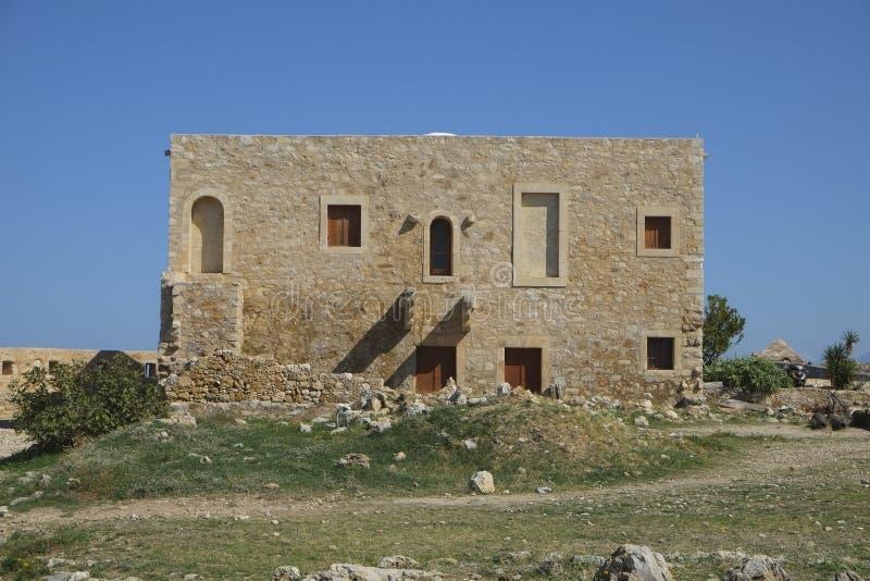 Middeleeuwse vestingwerken in Rethymno, Kreta, Griekenland stock foto