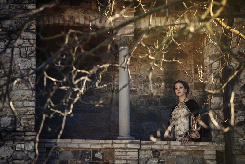 Middeleeuwse vrouw royalty-vrije stock foto