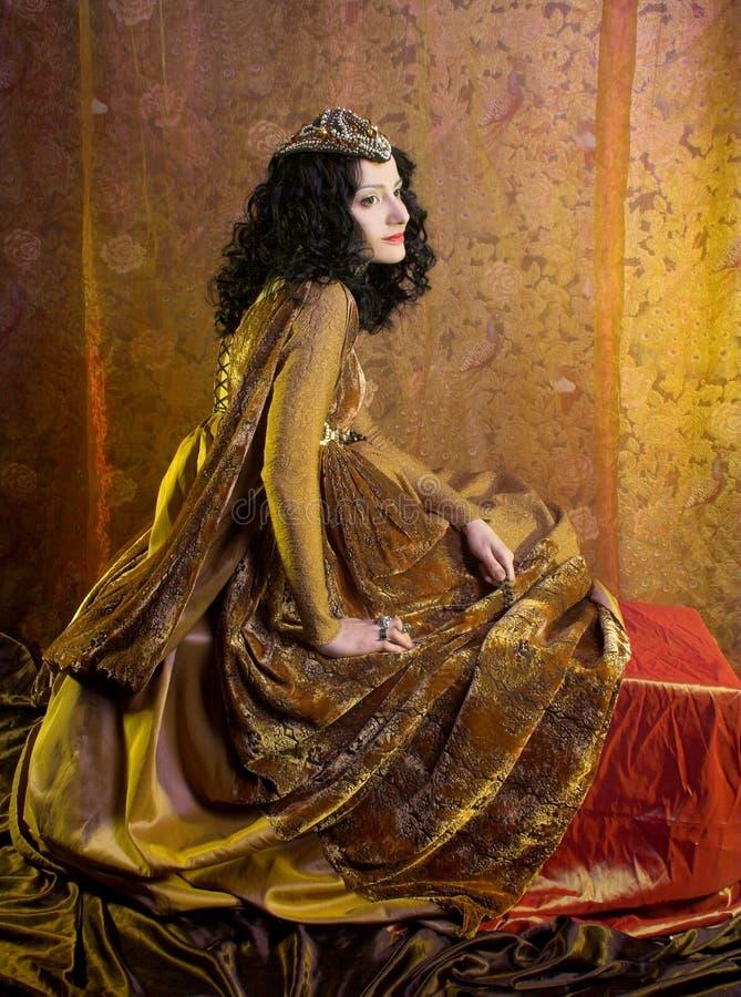 Middeleeuwse vrouw stock afbeeldingen