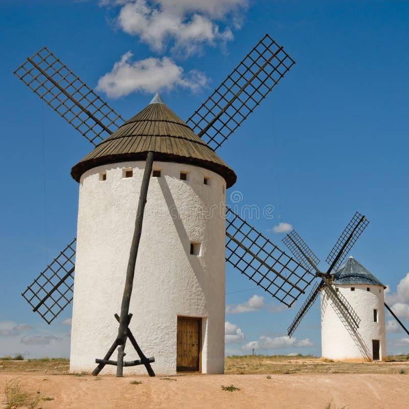 Middeleeuwse windmolen stock foto's