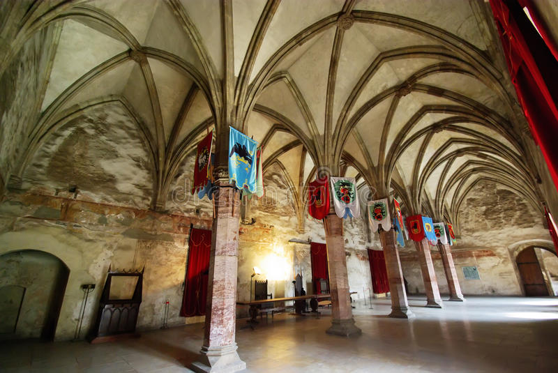 Middeleeuwse zaal stock foto