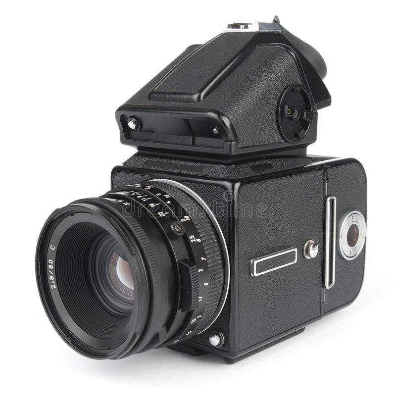 Middelgrote formaatcamera ISO royalty-vrije stock foto