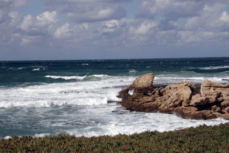 Middellandse-Zeegebied in caesarea royalty-vrije stock afbeelding
