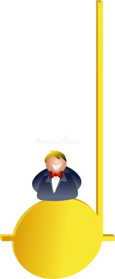 Midden c royalty-vrije illustratie