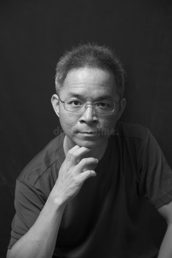 Midden-leeftijds Chinese mens stock fotografie