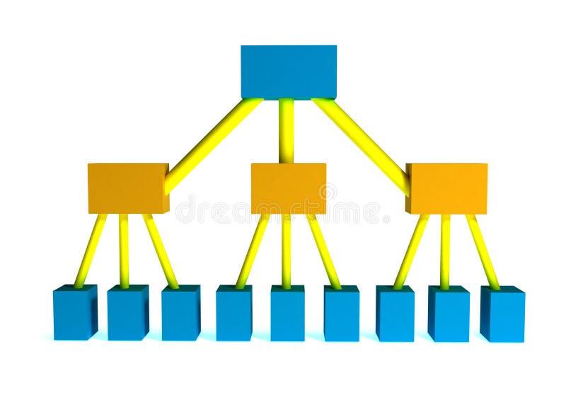 Midden managers vector illustratie