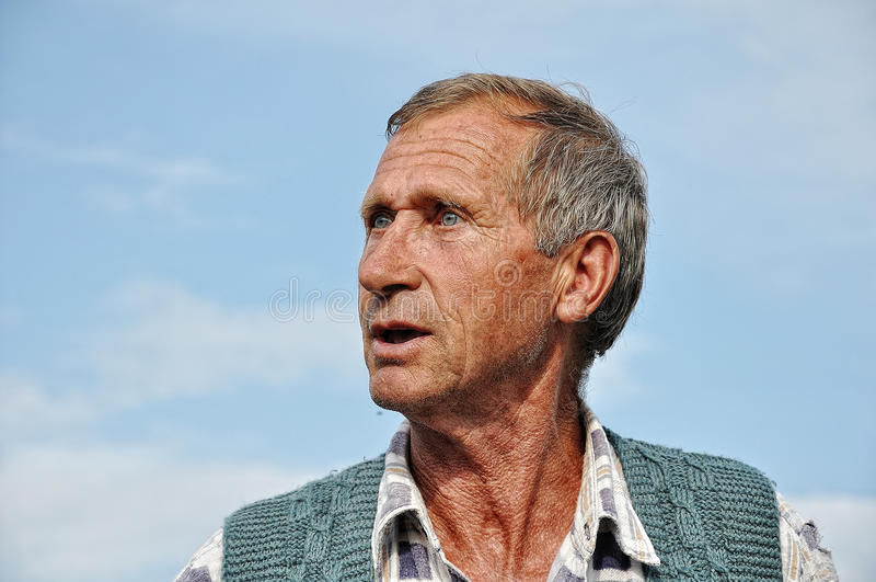 Midden oude mannelijke persoon royalty-vrije stock foto