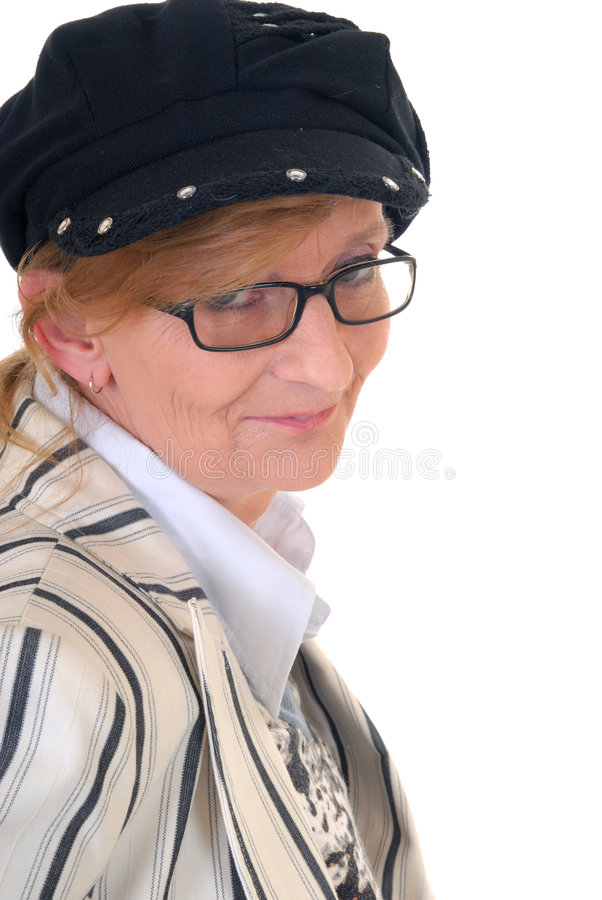 Midden oude vrouw royalty-vrije stock fotografie