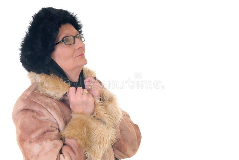 Midden oude vrouw stock foto's