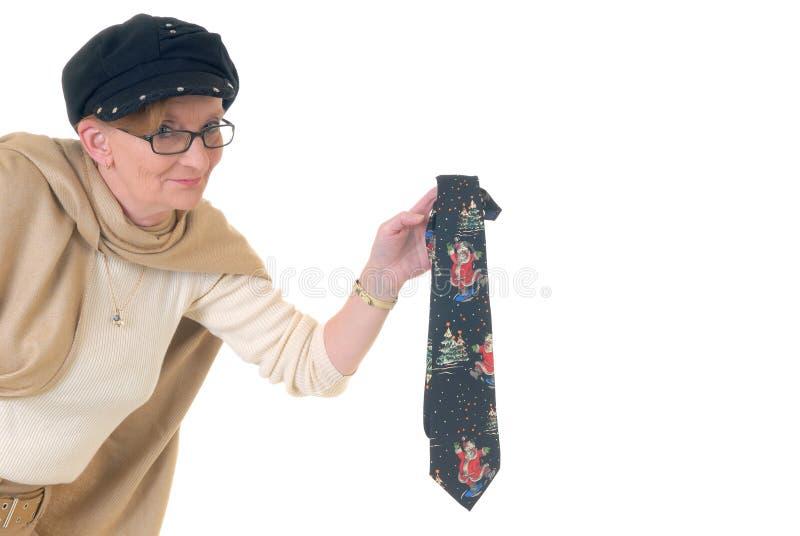 Midden oude vrouw, het seizoen van Kerstmis royalty-vrije stock foto's