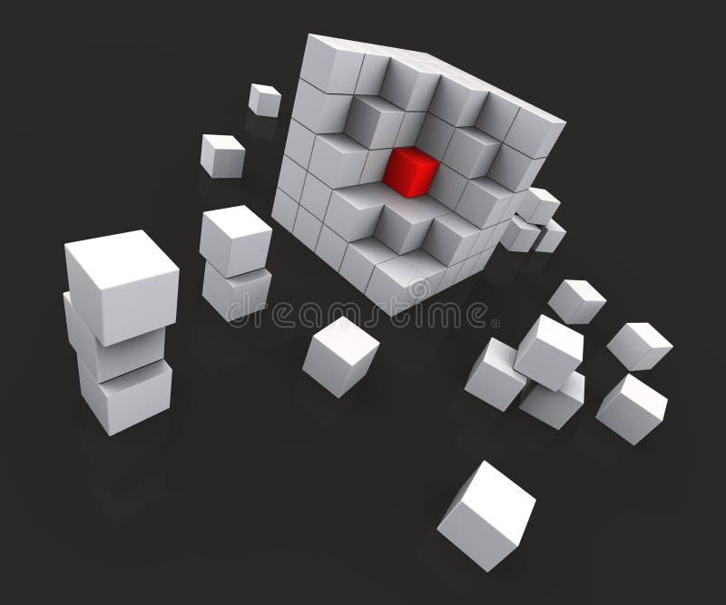 Midden van Blokken die Kern tonen vector illustratie