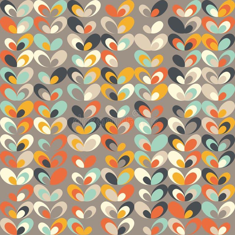 Midden van de eeuw geometrisch retro patroon, uitstekende kleuren, retro behang vector illustratie