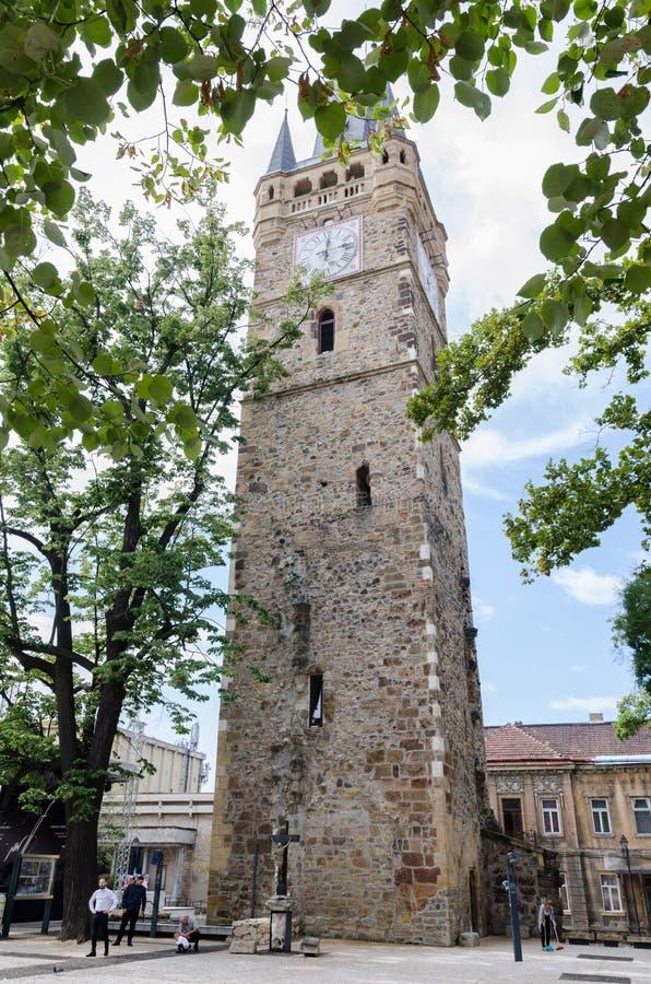 Middendieleeftijdskerk door Duitse kolonisten in midden-Europa wordt gebouwd royalty-vrije stock foto's