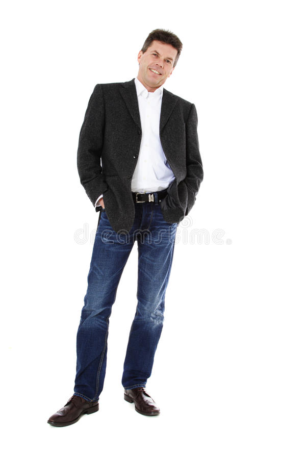 Middle-aed man stock photo