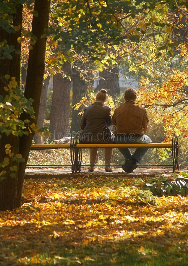Middle age couple royalty free stock images