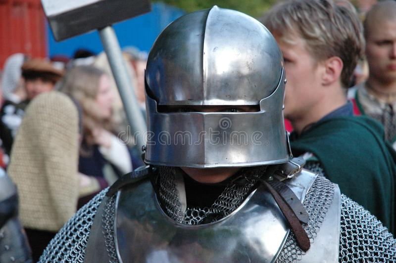 Middle age knight portrait royalty free stock photography
