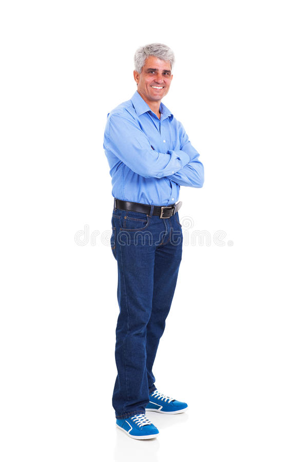 Middle age man stock photo