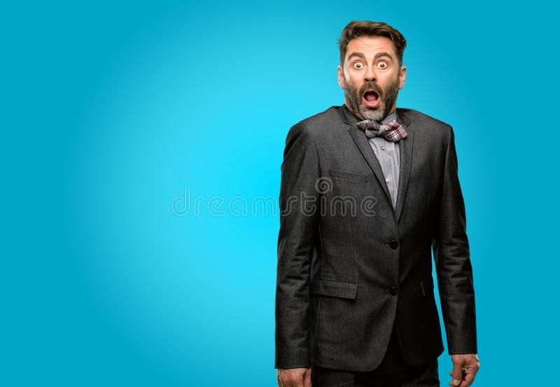 Middle age man wearing a suit royalty free stock image