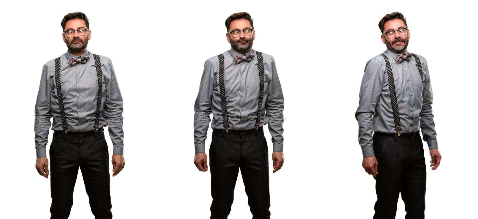 Middle age man wearing a suit stock image