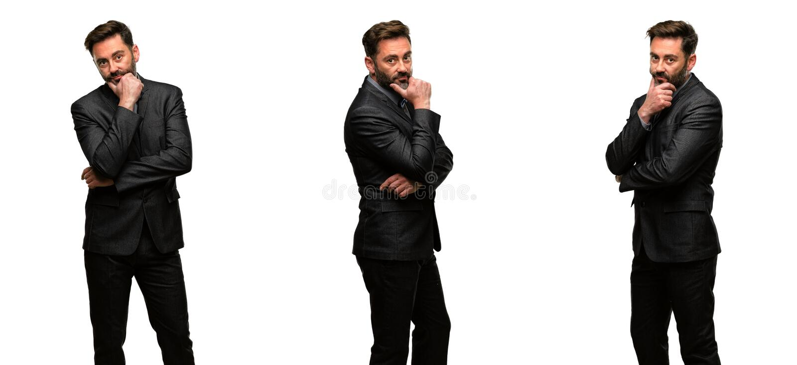 Middle age man wearing a suit royalty free stock photo