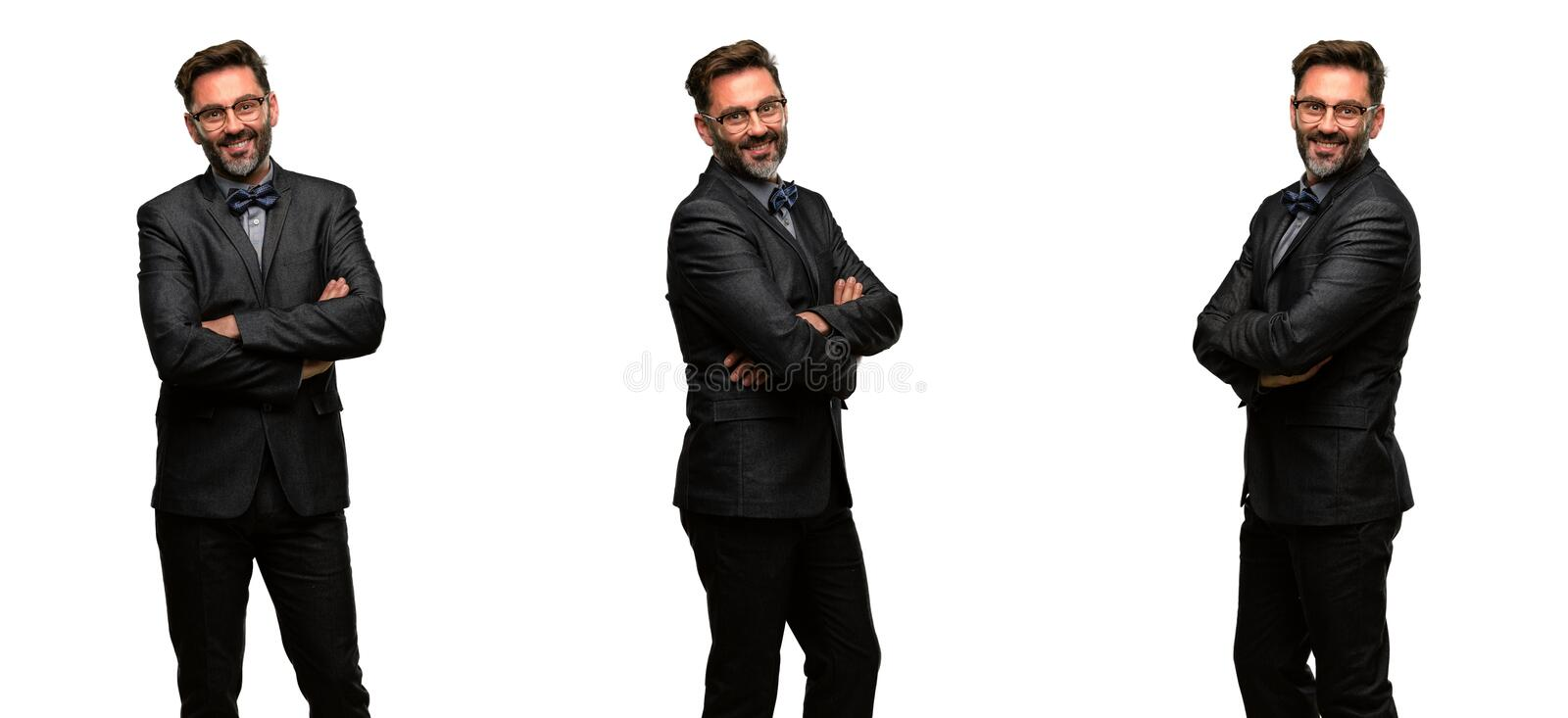 Middle age man wearing a suit royalty free stock photography