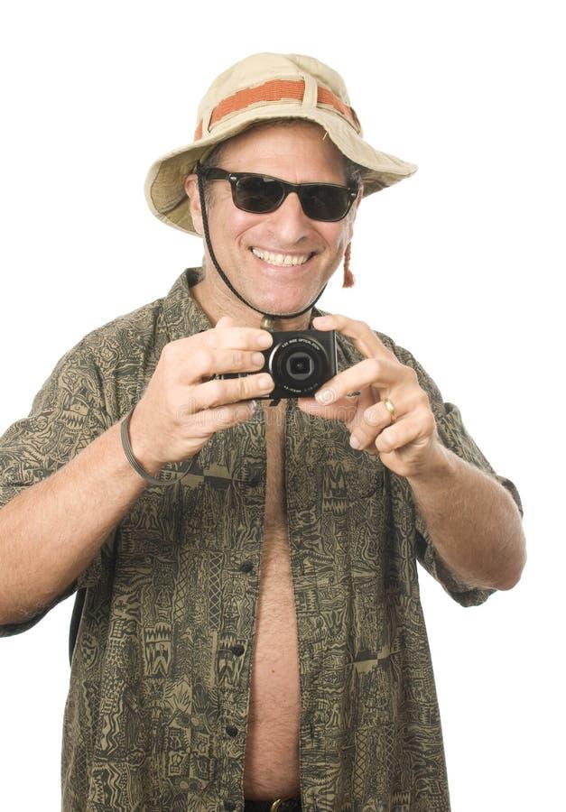 Middle Age Senior Tourist Male Digital Camera Royalty Free Stock Image