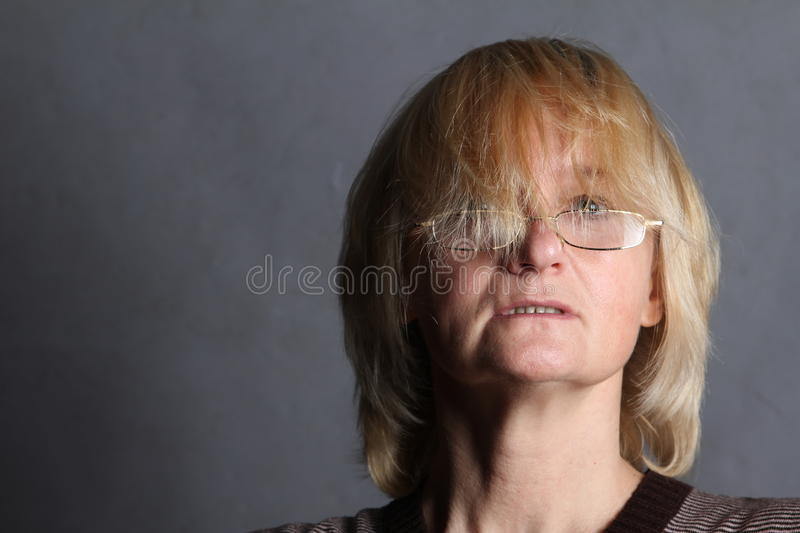 A middle age woman stock photo