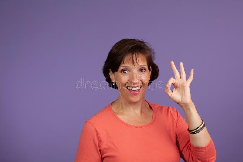 Wife flashing thumbs