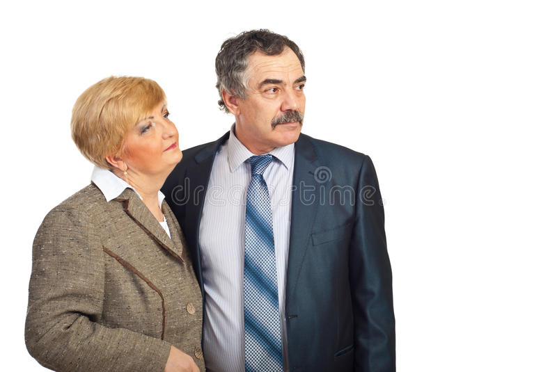 Download Middle Aged Business People Looking To The Future Stock Photo - Image: 18249470