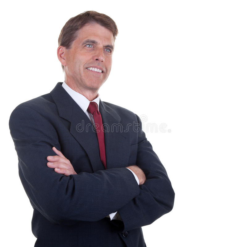 Middle Aged Businessman royalty free stock photo