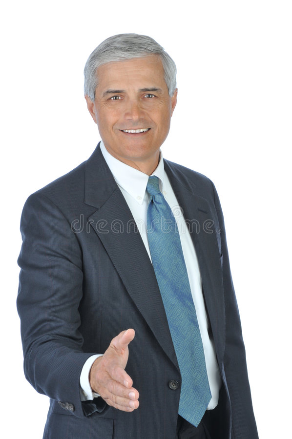 Download Middle Aged Businessman With Extended Hand Stock Images - Image: 8019014