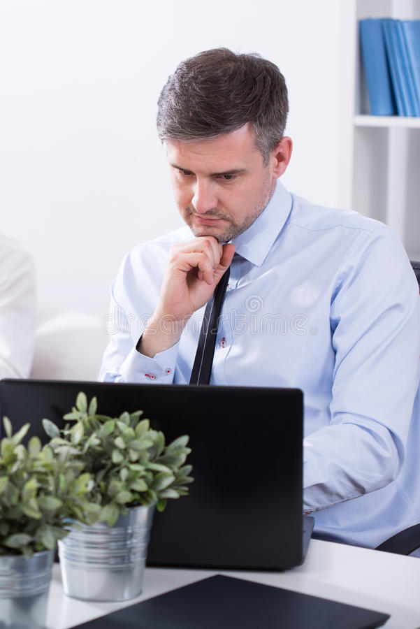 Middle aged businessman stock photography