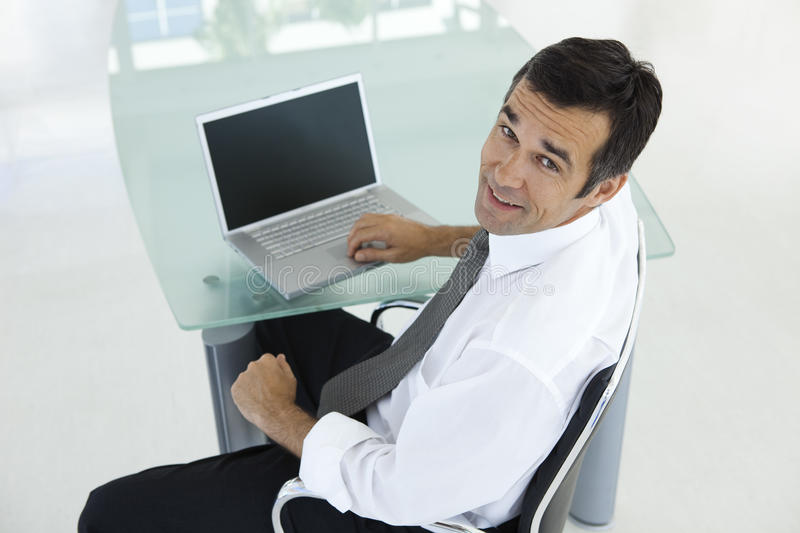Middle-aged businessman royalty free stock photos
