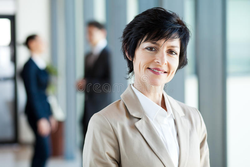 Download Middle aged businesswoman stock image. Image of aged - 26121895