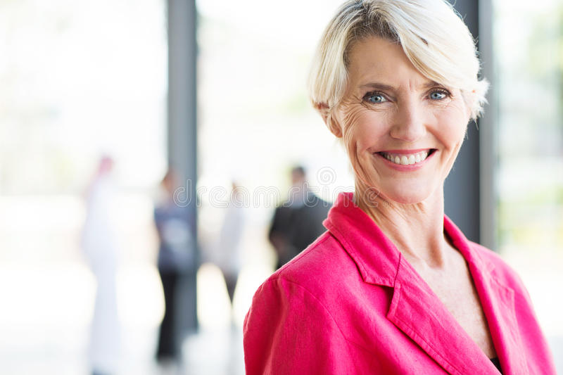 Middle aged businesswoman royalty free stock image