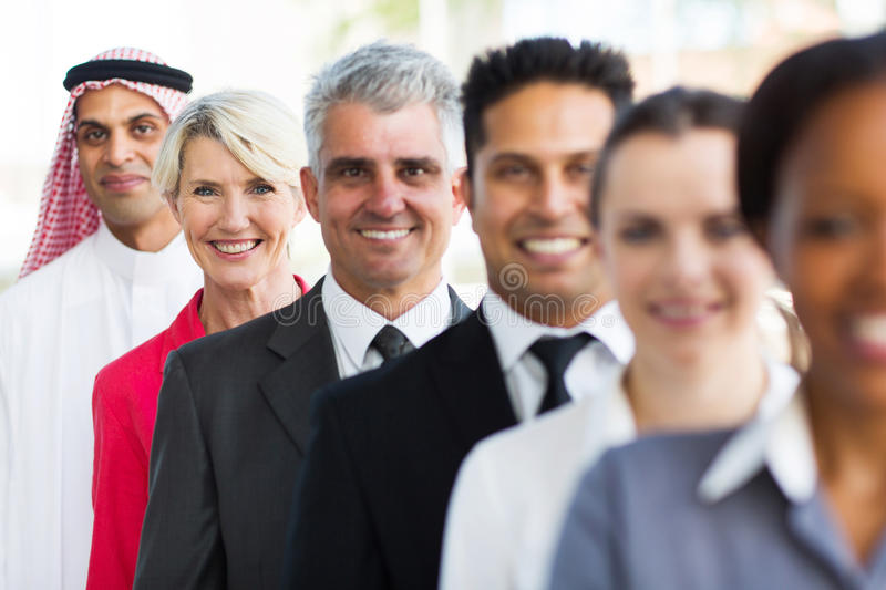 Middle aged businesswoman team royalty free stock image
