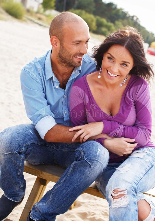Download Middle-aged Couple On A Beach Stock Image - Image: 36530451