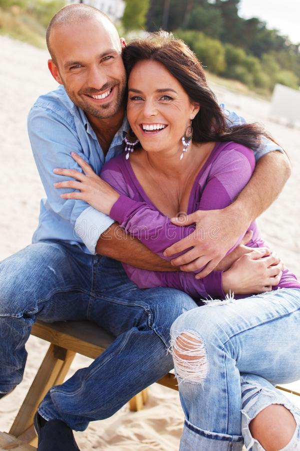 Download Middle-aged Couple On A Beach Stock Image - Image: 36530471