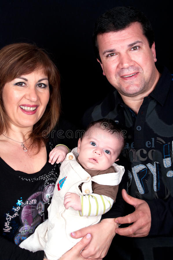 Download Middle Aged Couple With Cute Baby Stock Image - Image: 26212643