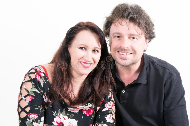 Middle aged couple fashion and happy royalty free stock photography
