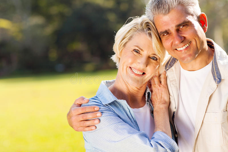 Middle aged couple royalty free stock photo
