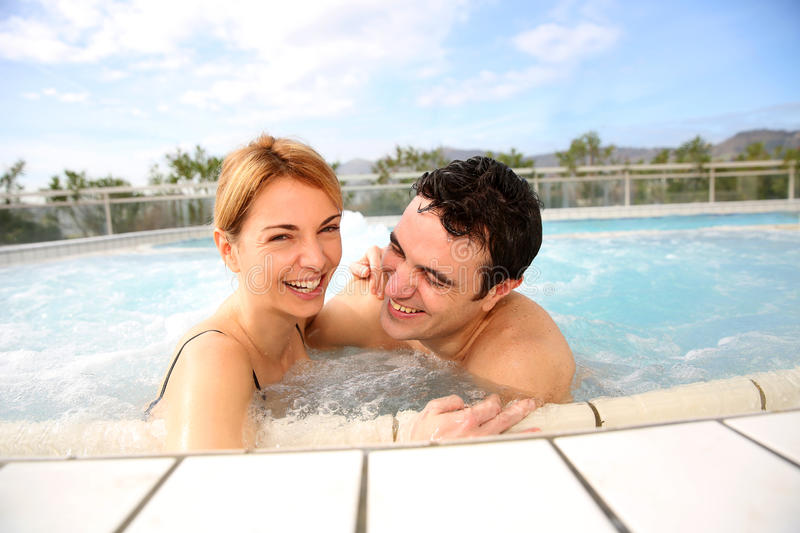 Download Middle-aged Couple In Spa Center Stock Image - Image of relaxation, treatment: 29162221